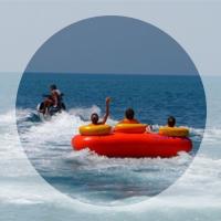 Пляжные развлечения в Прасковеевке